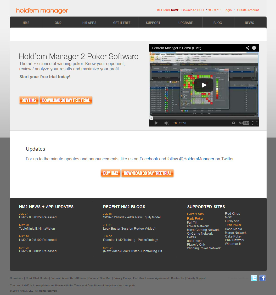 HoldemManager Home Page